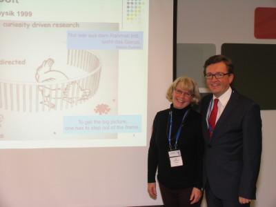 Ilse Muchitsch, ECH SC pharmacy coordinator, Thomas Peinbauer, WECH president